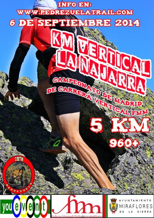 cartel KM VERTICAL LA NAJARRA 2014