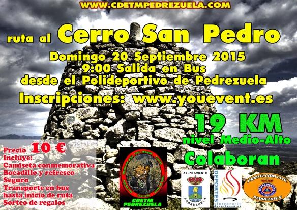 Cartel ruta al cerro San Pedro 2015